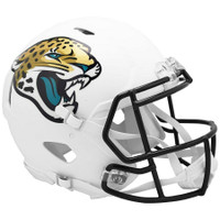 Jacksonville Jaguars Riddell Flat White Matte Revolution Speed Authentic Helmet
