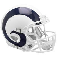 Los Angeles Rams Riddell Flat White Matte Revolution Speed Authentic Helmet