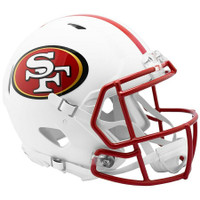 San Francisco 49ers Riddell Flat White Matte Revolution Speed Authentic Helmet