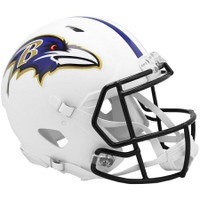 Baltimore Ravens Riddell Flat White Matte Revolution Speed Authentic Helmet