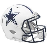 Dallas Cowboys Riddell Flat White Matte Revolution Speed Authentic Helmet