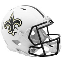 New Orleans Saints Riddell Flat White Matte Revolution Speed Authentic Helmet