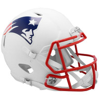 New England Patriots Riddell Flat White Matte Revolution Speed Authentic Helmet