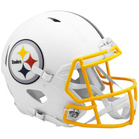 Pittsburgh Steelers Riddell Flat White Matte Revolution Speed Authentic Helmet