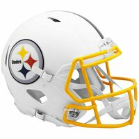 Pittsburgh Steelers Riddell Flat White Matte Revolution Speed Authentic Helmet