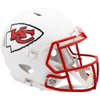 Kansas City Chiefs Riddell Flat White Matte Revolution Speed Authentic Helmet