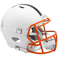 Cleveland Browns NFL Riddell Flat White Matte Revolution Speed Replica Helmet