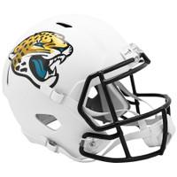 Jacksonville Jaguars Riddell Flat White Matte Revolution Speed Replica Helmet