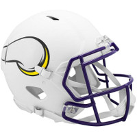 Minnesota Vikings NFL Riddell Flat White Matte Revolution Speed Authentic Helmet