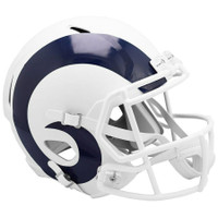 Los Angeles Rams NFL Riddell Flat White Matte Revolution Speed Replica Helmet