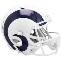 Los Angeles Rams NFL Riddell Flat White Matte Revolution Speed Replica Helmet