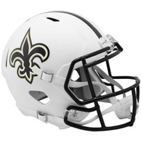 New Orleans Saints NFL Riddell Flat White Matte Revolution Speed Replica Helmet