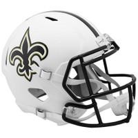 New Orleans Saints NFL Riddell Flat White Matte Revolution Speed Replica Helmet