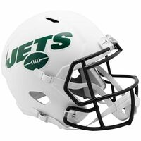 New York Jets NFL Riddell Flat White Matte Revolution Speed Replica Helmet