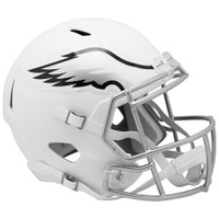 Philadelphia Eagles NFL Riddell Flat White Matte Revolution Speed Replica Helmet