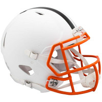 Cleveland Browns Riddell Flat White Matte Revolution Speed Authentic Helmet