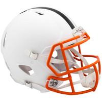 Cleveland Browns Riddell Flat White Matte Revolution Speed Authentic Helmet