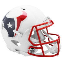 Houston Texans Riddell Flat White Matte Revolution Speed Authentic Helmet