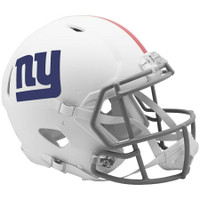 New York Giants Riddell Flat White Matte Revolution Speed Authentic Helmet