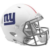 New York Giants Riddell Flat White Matte Revolution Speed Authentic Helmet