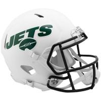 New York Jets Riddell Flat White Matte Revolution Speed Authentic Helmet