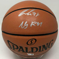 "LUKA DONCIC Dallas Mavericks Autographed ""19 ROY"" Spalding Basketball FANATICS"