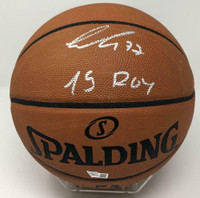 LUKA DONCIC Mavericks Autographed 19 ROY Authentic Spalding Basketball FANATICS