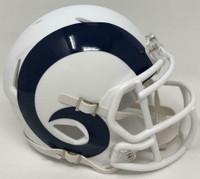 Los Angeles Rams Unsigned NFL Riddell Flat White Matte Revolution Speed Mini Helmet