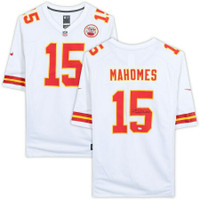 PATRICK MAHOMES Autographed Kansas City Chiefs White Nike Game Jersey FANATICS