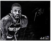 "DAMIAN LILLARD Autographed Trailblazers ""Focus"" 16 x 20 Photograph PANINI"