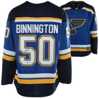 JORDAN BINNINGTON Autographed St. Louis Blues Breakaway Blue Jersey FANATICS