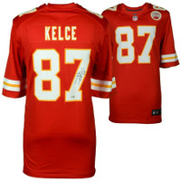TRAVIS KELCE Autographed Kansas City Chiefs Red Nike Game Jersey FANATICS