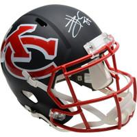 TRAVIS KELCE Autographed Kansas City Chiefs AMP Speed Helmet FANATICS