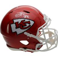 TRAVIS KELCE Autographed Kansas City Chiefs Authentic Speed Helmet FANATICS