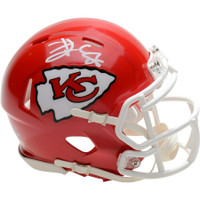 TRAVIS KELCE Autographed Kansas City Chiefs Mini Speed Helmet FANATICS
