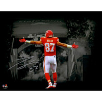 "TRAVIS KELCE Autographed Kansas City Chiefs 11"" x 14"" Photograph FANATICS"