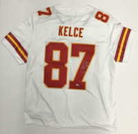 TRAVIS KELCE Autographed Kansas City Chiefs White Nike Game Jersey FANATICS