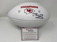 PATRICK MAHOMES Kansas City Chiefs Super Bowl LIV Champions Autographed Super Bowl LIV Champions White Panel Football FANATICS