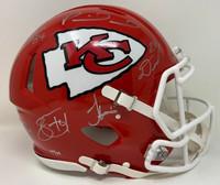 KANSAS CITY CHIEFS Autographed Super Bowl LIV Champions Riddell Super Bowl LIV Champions Speed Authentic Helmet with Multiple Signatures - Limited Edition of 54 FANATICS