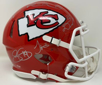 KANSAS CITY CHIEFS Autographed Super Bowl LIV Champions Riddell Speed Authentic Helmet with Multiple Signatures - Limited Edition of 54 FANATICS
