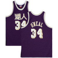 SHAQUILLE O'NEAL Autographed Los Angeles Lakers Chinese New Year Jersey FANATICS