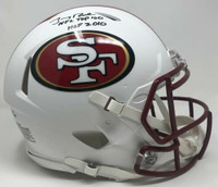 "JERRY RICE Autographed ""HOF 2010 / NFL Top 100"" Authentic Helmet FANATICS LE 10"