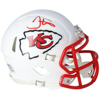 TYREEK HILL Autographed Chiefs White Matte Mini Speed Helmet FANATICS