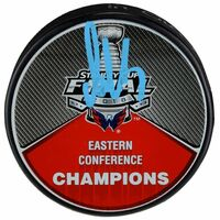 ALEX OVECHKIN Autographed Capitals Eastern Conference Champions Puck FANATICS