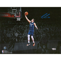 LUKA DONCIC Dallas Mavericks Autographed Spotlight Photograph FANATICS