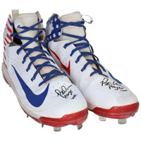 "PETE ALONSO New York Mets Autographed ""Player Worn"" Stars and Stripes Nike Cleats FANATICS"
