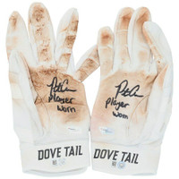 """PETE ALONSO New York Mets Autographed """"Player Worn"""" White Game Used Batting Gloves FANATICS"""