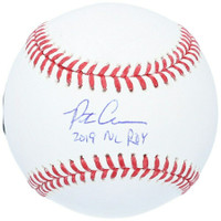 """PETE ALONSO Autographed """"2019 NL ROY"""" New York Mets Official Baseball FANATICS"""