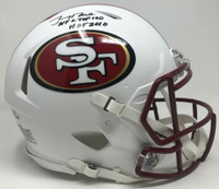 "JERRY RICE Autographed San Francisco 49ers ""HOF 2010 NFL Top 100"" Authentic Helmet FANATICS LE 10/10"