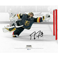 "MARC-ANDRE FLEURY Autographed Las Vegas Golden Knights ""Diving Save"" 16"" x 20"" Photograph FANATICS"